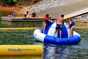 Fun on the lake. Courtesy of George Huffman.