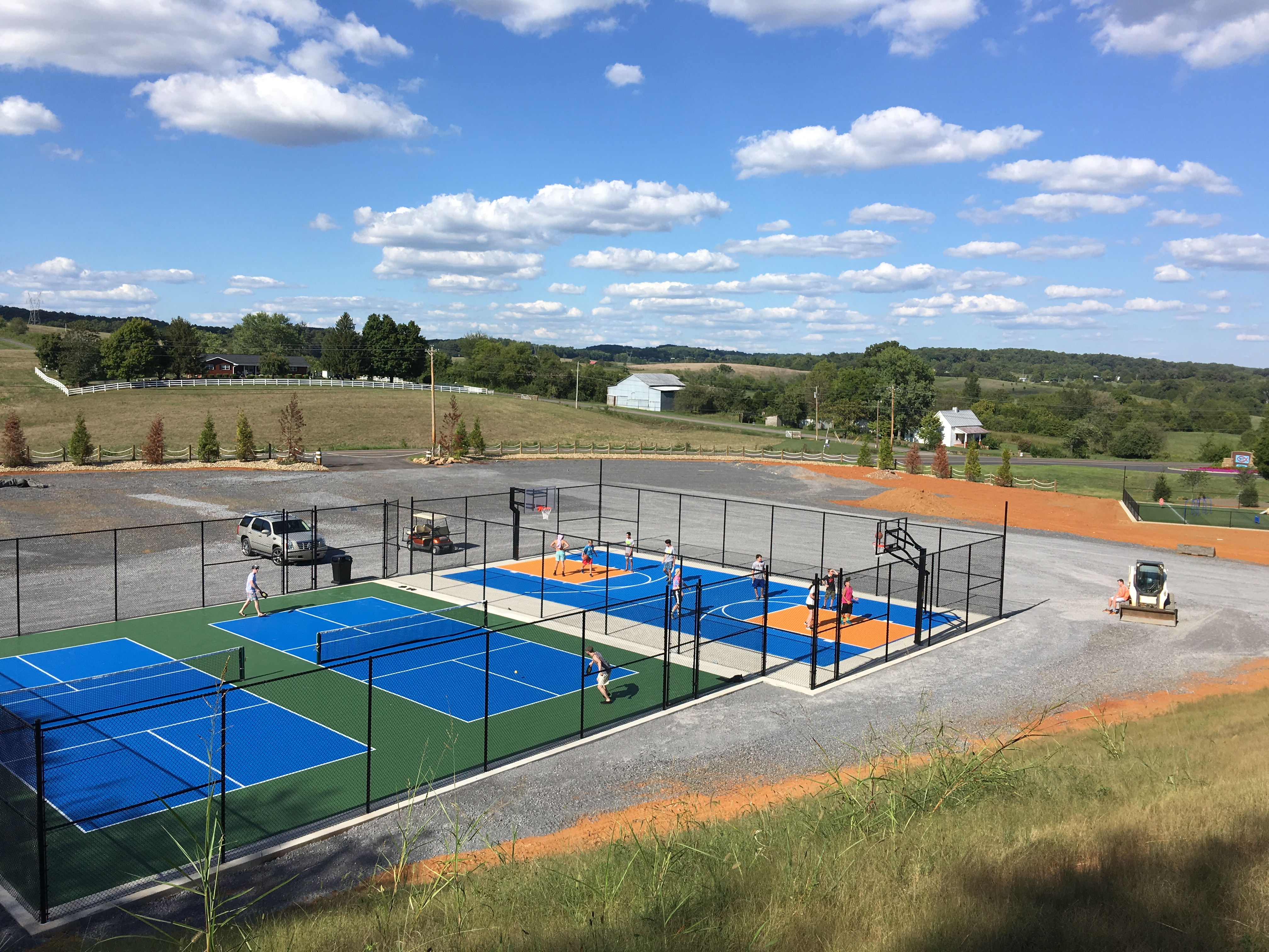 Pickle Ball & Basketball Court